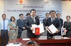 Việt Nam-Hàn Quốc ký biên bản ghi nhớ trong quản lý hệ thống điện