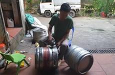 Quản lý thị trường thu nhiều keg bia 'nhái' thương hiệu nổi tiếng