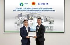 VMC tăng 2 bậc trong chương trình tư vấn cải tiến của Samsung