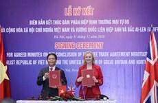 Hiệp định thương mại tự do Việt Nam-Anh sẽ có hiệu lực từ đêm 31/12