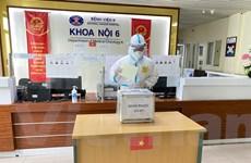 [Photo] Hình ảnh Bệnh viện K Hà Nội tổ chức bầu cử trong tâm dịch