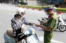 Công an Hà Nội thông tin chính thức việc cấp Giấy đi đường tại vùng 1