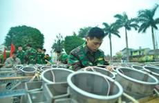 [Photo] Trận địa pháo hoa sẵn sàng phục vụ người dân đêm Giao thừa