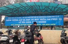 Hà Nội: Gửi xe miễn phí cho người dân tới lễ chùa Phúc Khánh