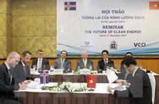 Việt Nam-Iceland hợp tác phát triển các nguồn năng lượng sạch