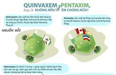 [Infographics] Nên tiêm cho trẻ Quinvaxem hay Pentaxim?