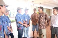 Indonesia vừa trao trả 10 ngư dân Việt Nam về nước