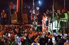 Hiện trường giải cứu 4 thợ mỏ sau 36 ngày sống dưới lòng đất