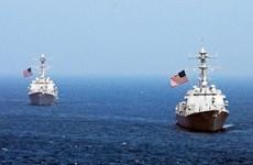 Tàu Hải quân Mỹ đã tiến sát Đá Chữ Thập ở Biển Đông