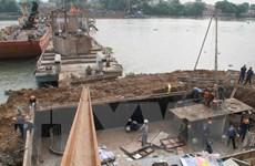 Bảo đảm an toàn giao thông đường thủy khu vực thi công cầu Ghềnh