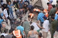 Không quân Israel ném bom căn cứ quân sự Syria gần Damascus