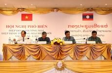 Doanh nghiệp Việt-Lào đánh giá cao hai hiệp định thương mại hai nước