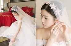 Những chiếc váy cưới lộng lẫy nhất năm của các sao Hoa ngữ