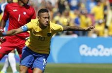 Neymar ghi bàn thắng nhanh nhất trong lịch sử Olympic