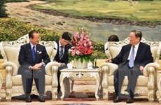 Nghị sỹ Nhật Bản gặp Chủ tịch Chính Hiệp Trung Quốc