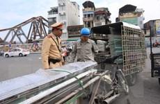Hà Nội: Tăng cường xử lý xe thô sơ chở hàng hóa cồng kềnh