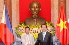 Chủ tịch nước Trần Đại Quang chiêu đãi Tổng thống Philippines