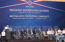 Tổng thống Philippines Rodrigo Duterte thăm chính thức Campuchia