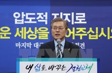 Bầu cử Tổng thống Hàn Quốc: Ứng viên Moon Jae-in tuyên bố chiến thắng