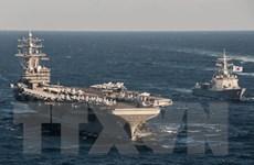 Mỹ triển khai tàu sân bay thứ 2 tới vùng biển ngoài khơi Triều Tiên
