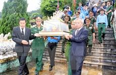Lễ truy điệu, an táng hài cốt liệt sỹ Việt Nam hy sinh tại Lào