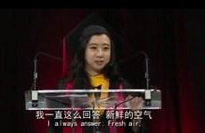 Phát biểu gây sốc của sinh viên Trung Quốc trong buổi tốt nghiệp ở Mỹ