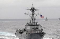 Tàu chiến Mỹ vẫn diễn tập gần đảo nhân tạo Trung Quốc ở Biển Đông