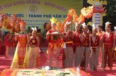 [Photo] Đặc sắc Lễ hội bánh chưng, bánh dầy tại Sầm Sơn