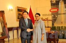 Phó Thủ tướng Vương Đình Huệ thăm, làm việc tại Indonesia