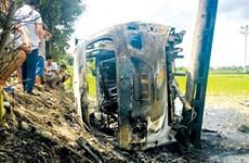 Bắt tạm giam ba đối tượng liên quan vụ đốt xe ôtô ở Hải Dương