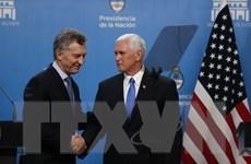 Phó Tổng thống Mỹ Mike Pence hội kiến Tổng thống Argentina