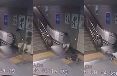 [Video] Khoảnh khắc thót tim khi người phụ nữ rớt xuống sàn