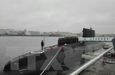 Tàu ngầm Nga bắn 7 quả tên lửa vào mục tiêu của IS ở Syria