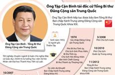 [Infographics] Ông Tập Cận Bình tái đắc cử Tổng Bí thư ĐCS Trung Quốc