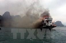 [Video] Tàu bất ngờ phát nổ, 4 thuyền viên bị bỏng nặng