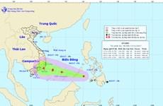 Trong 24 giờ tới, áp thấp nhiệt đới di chuyển theo hướng Tây Tây Bắc