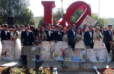 Thú vị đám cưới tập thể của 20 cặp đôi ngày Lễ tình nhân tại Đà Lạt