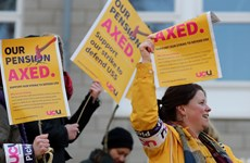 Giảng viên đại học ở Anh đình công phản đối điều chỉnh lương hưu