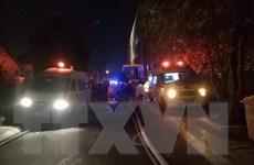 Hiện trường vụ cháy chung cư cao cấp Carina ở Thành phố Hồ Chí Minh