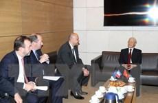 Tổng Bí thư Nguyễn Phú Trọng gặp các doanh nghiệp hàng đầu của Pháp