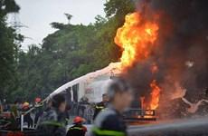 Sơn La: Xe bồn tiếp nhiên liệu bốc cháy tại cây xăng ở Sông Mã