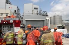 13 người bị thương do rò rỉ khí clo tại nhà máy hóa chất ở Hàn Quốc