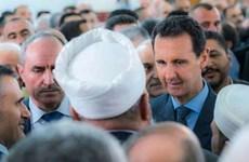 Tổng thống Syria Bashar al-Assad xuất hiện bên ngoài thủ đô Damascus