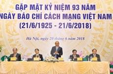 Thủ tướng Nguyễn Xuân Phúc gặp mặt các cơ quan thông tấn, báo chí