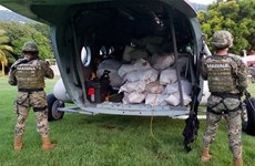 Hải quân Mexico thu giữ gần 2 tấn cocaine trên tàu ngoài khơi