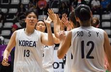 Đội tuyển bóng rổ nữ hai miền Triều Tiên bất ngờ để thua Đài Loan