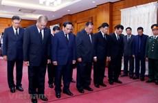 Lễ viếng và mở Sổ tang Chủ tịch nước Trần Đại Quang tại Lào