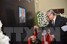 Lễ viếng nguyên Tổng Bí thư Đỗ Mười tại Campuchia và Australia