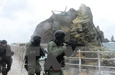 Hàn Quốc tiến hành tập trận bảo vệ quần đảo tranh chấp với Nhật Bản