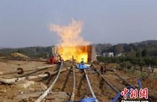 Trung Quốc khai thác khí đốt từ trầm tích núi lửa ở Tứ Xuyên